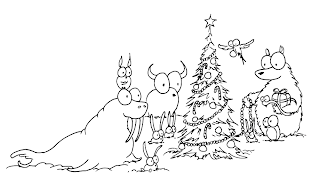 Christmas Images for Coloring, part 6