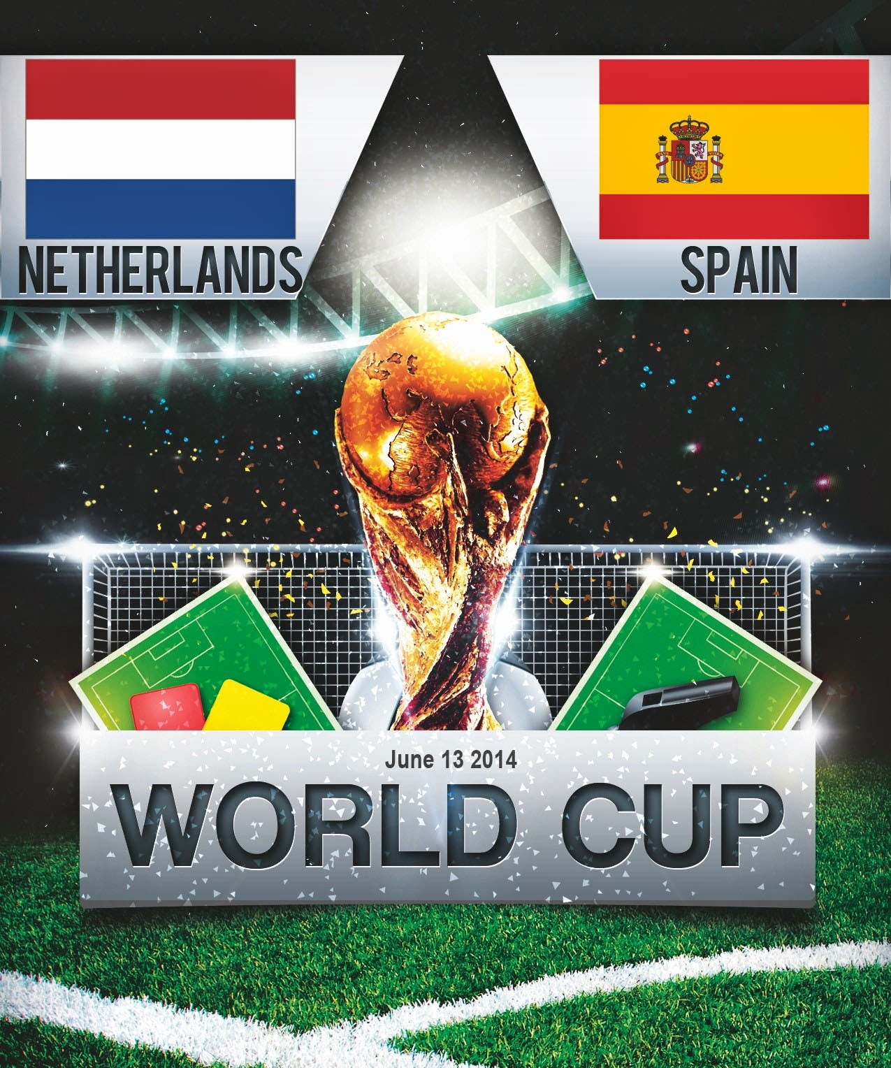 FIFA World Cup 2014 - Netherlands Vs Spain