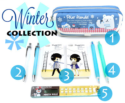 School supplies perfect for winter at CoolPencilCase.com!