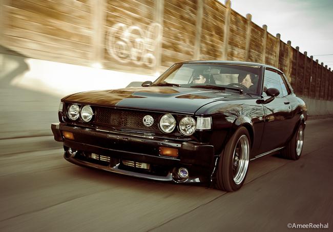 ciekawe japońskie coupe, sportowe, jdm, galeria, zdjęcia, napęd na tył, black, czarny, przód