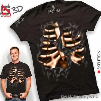 kaos 3d skeleton