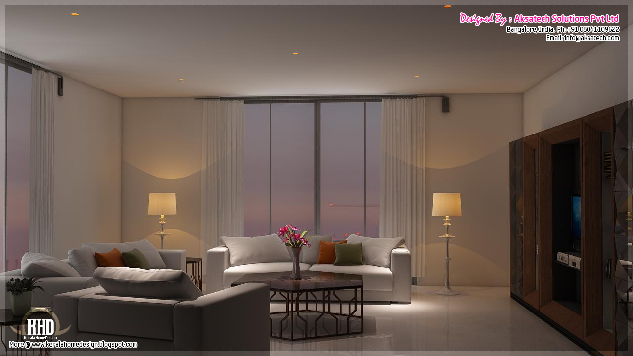 3d visualizations of interiors and elevations home for Living room elevation