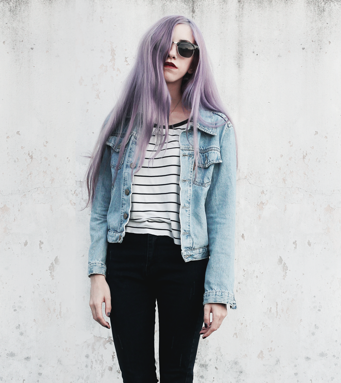Stripes-Denim-Outfit-Lilac-Hair-1