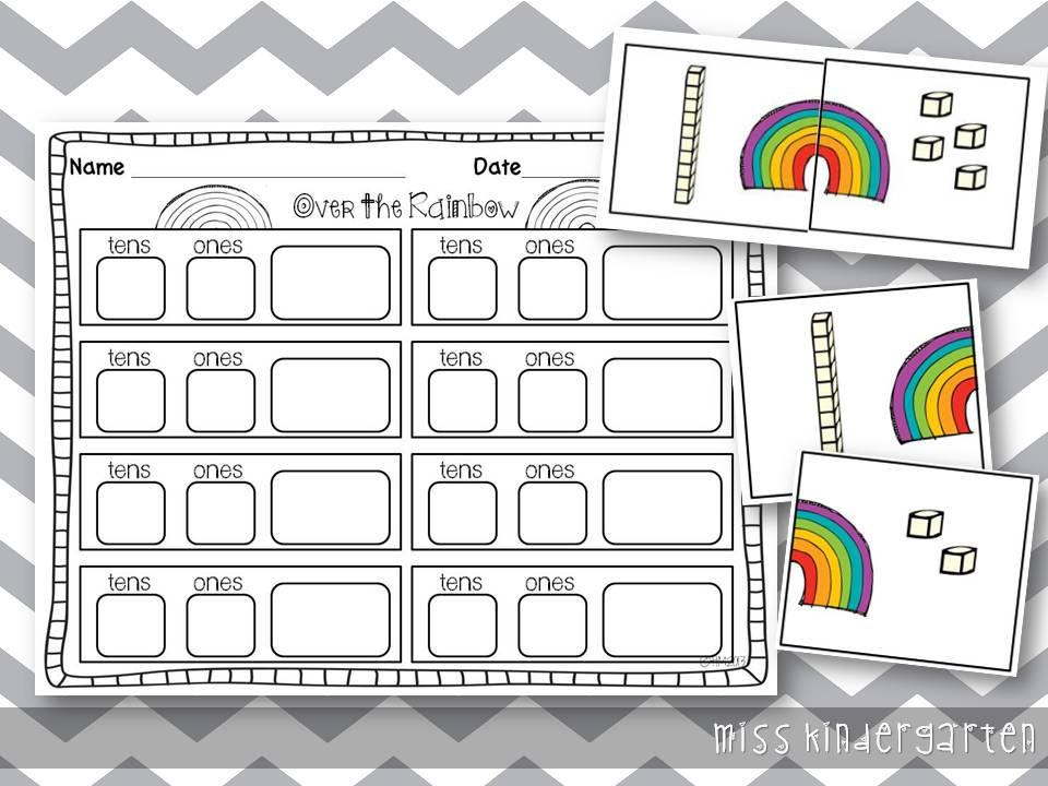 March Centers - Miss Kindergarten