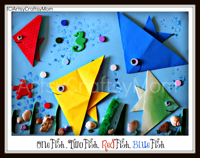 Origmai fish Dr Seuss One fish two fish Dr. Seuss Special   One Fish Two Fish Origami Fish age5 7 age3 5  Origami Googly Eyes Craft Classes