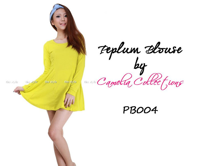 cotton peplum blouse yellow