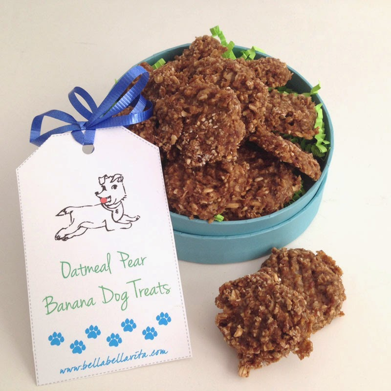 Oatmeal Pear Banana Dog Treats from Bella Bella Vita