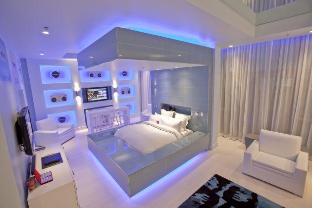 Qu les parece esta blue suite del hard rock hotel de las vegas