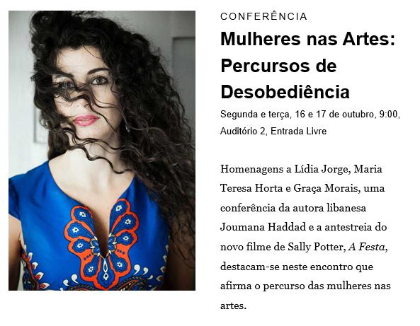 CONFERÊNCIA  «Mulheres nas Artes: Percursos de Desobediência» | 16-17 OUT 2017 | GULBENKIAN