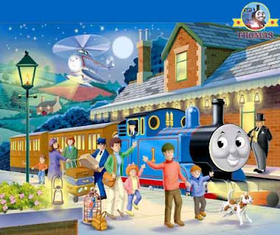 Harold Thomas the train and friends check in at the station 100 piece kids puzzle glow in the dark