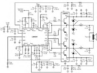 LM4651 and LM4652 170W power <a href='http://www.circuitlab.org/search/label/amplifier' title='amplifier circuits'>amplifier</a>