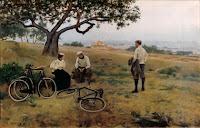RAMON CASAS Descanso de los ciclistas 1896
