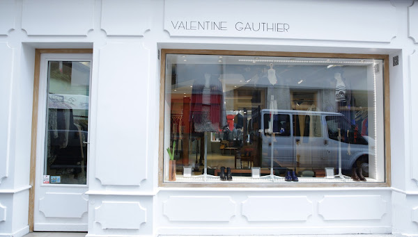 Vitrine Valentine Gauthier rue Charlot