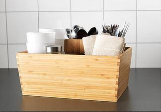Variera contenedores para cajón en bambú