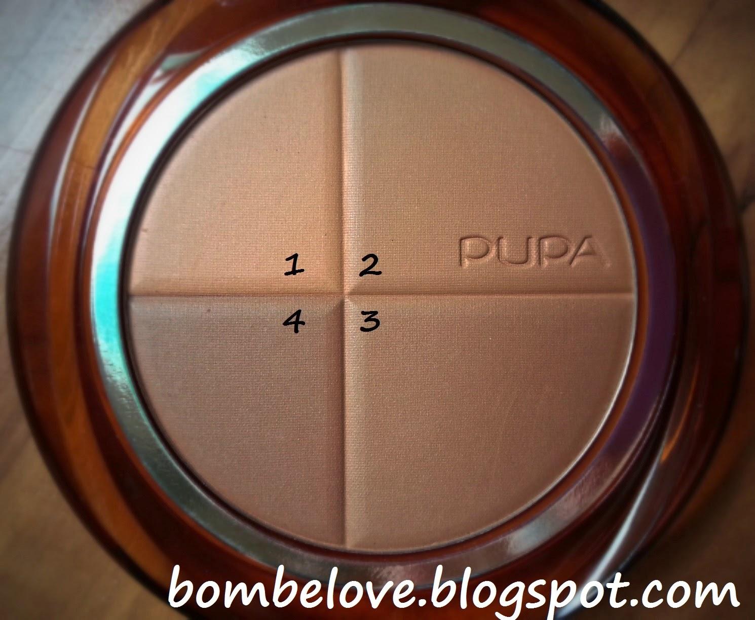 PUPA 4sun bronzing powder puder brązujący bombelove.blogspot.com