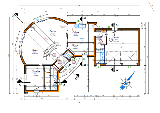 Plan maison gratuit 60m2 for Plan maison 60m2
