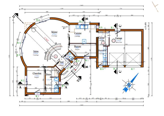 Plan d une maison tage maison moderne for Plan interieur de maison a etage
