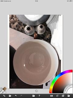 Step 1: Tasse, Spritzkappe, Farbe