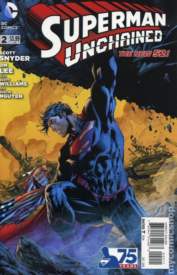 SUPERMAN UNCHAINED #2 NEW 52 JIM LEE