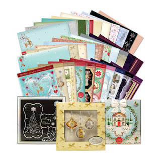 Hunkydory die cut toppers & co-ordinating card - Elegant Christmas Collection