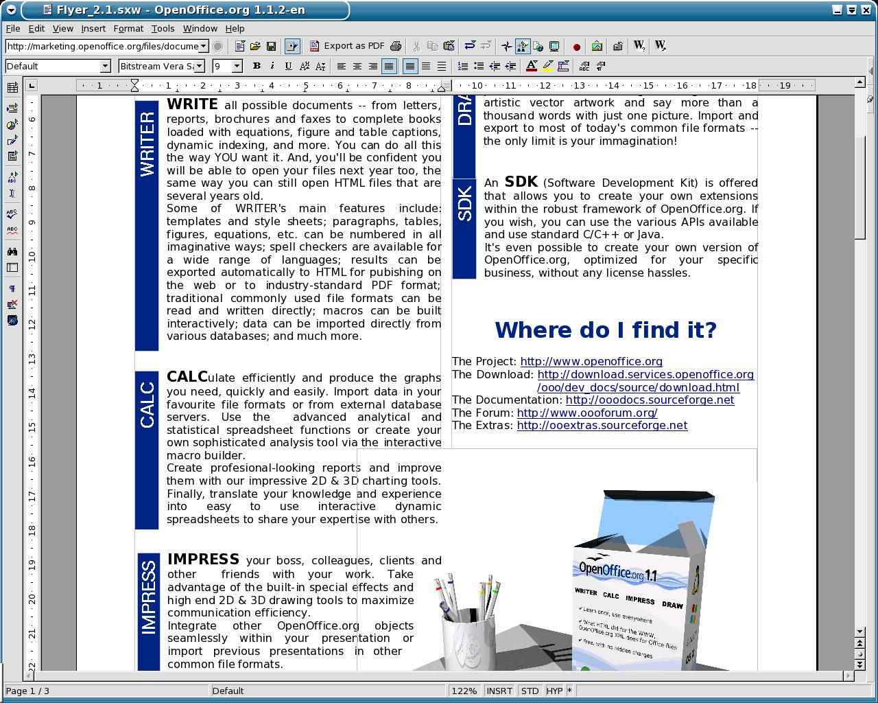 Tampilan OpenOffice