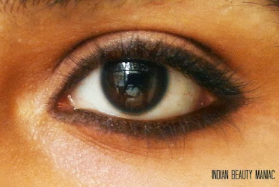 Lakme Eyeconic Pencil in Brown on my eyes