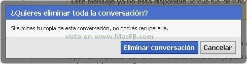 Eliminar conversación