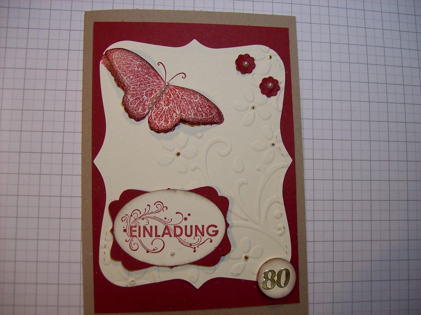 Kreativ Am Deich : . Einladungskarten Zum 80. Geburtstag ., Einladungs