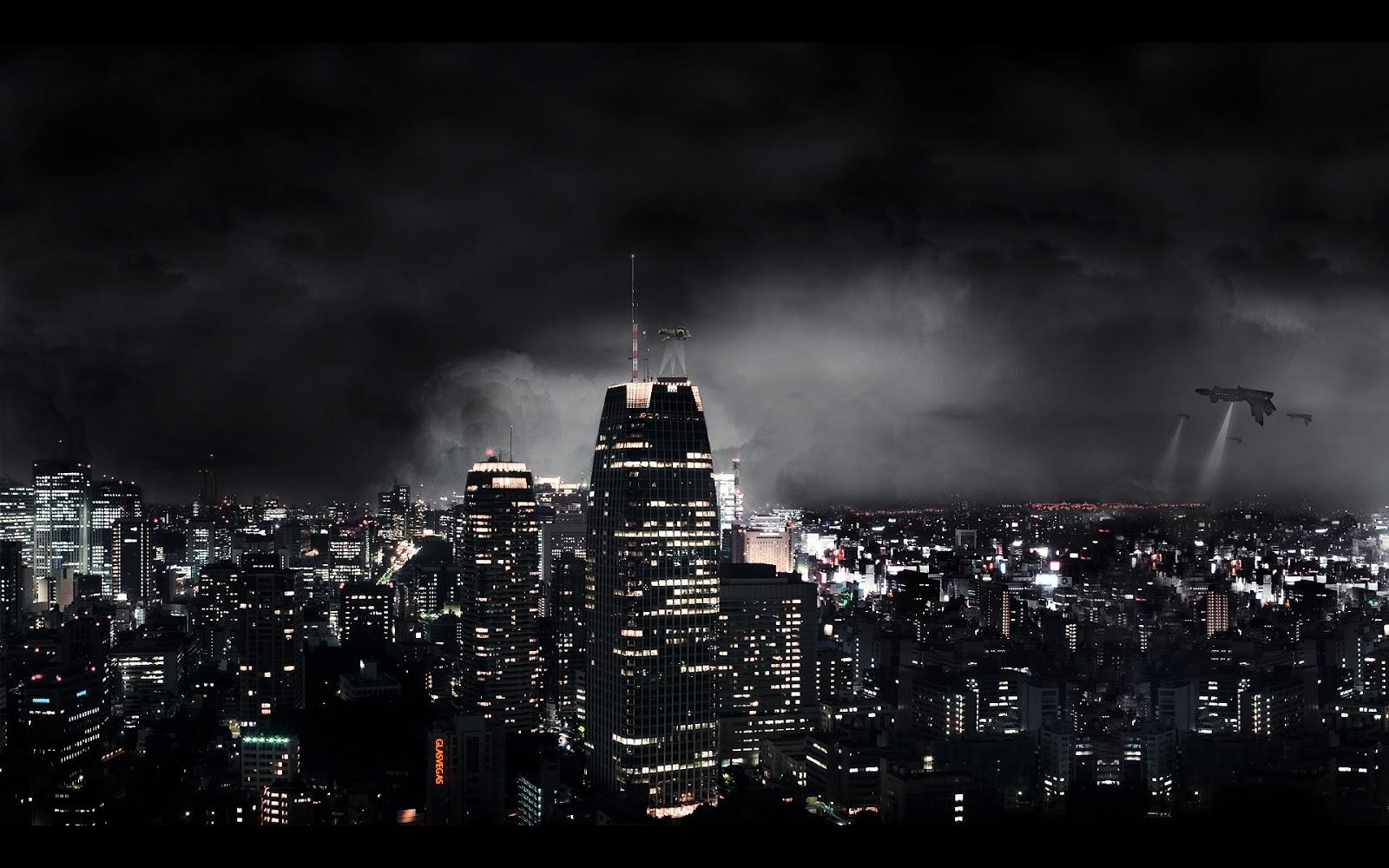 Wallpapernarium La Vista Nocturna De Una Ciudad Del Futuro