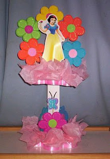 Children Parties Decoration, Snow White Centerpieces