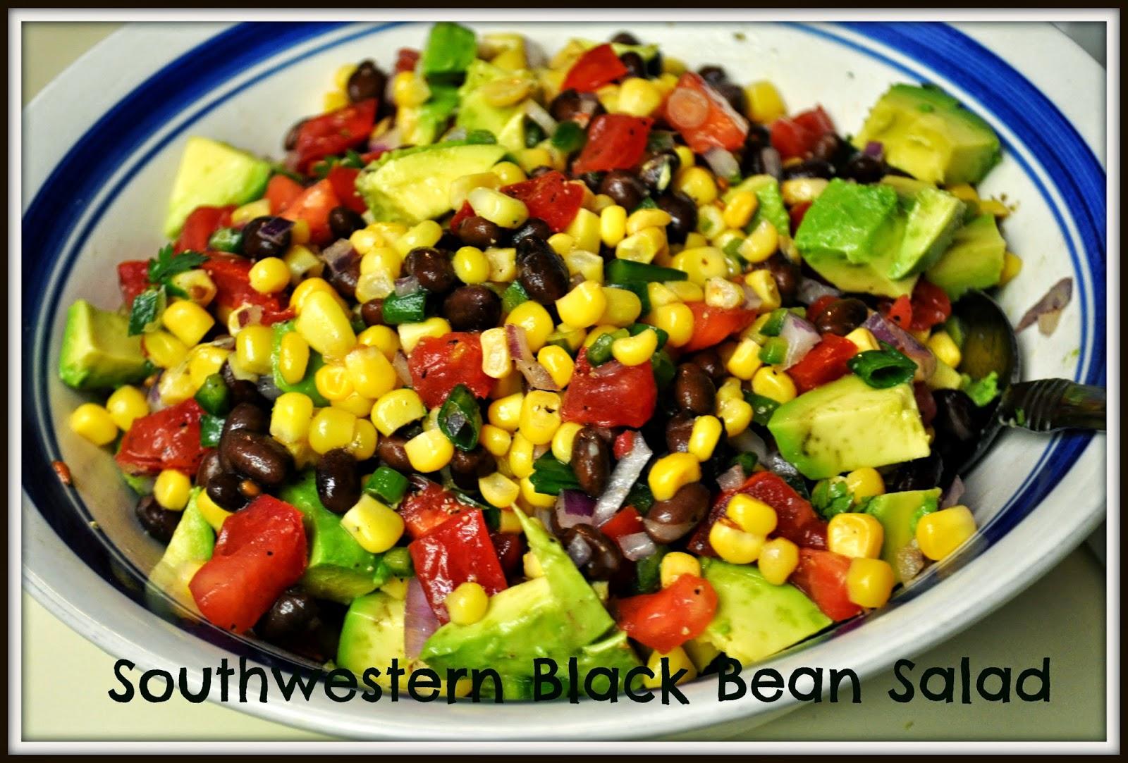Southwestern Black Bean Salad | The Grateful Girl Cooks!