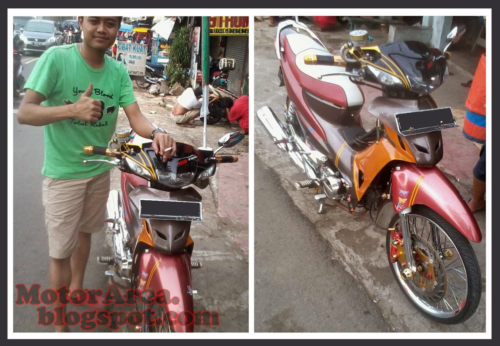 Modifikasi Honda Supra Fit New Ala Thailand Look Style
