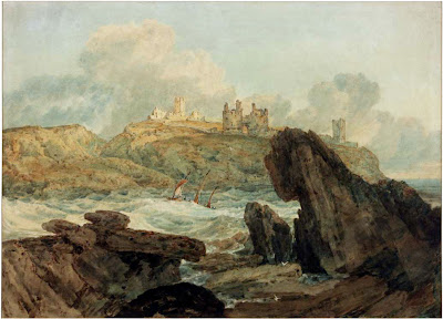 Dunstanburgh, Turner, castles, North East England, about Britain