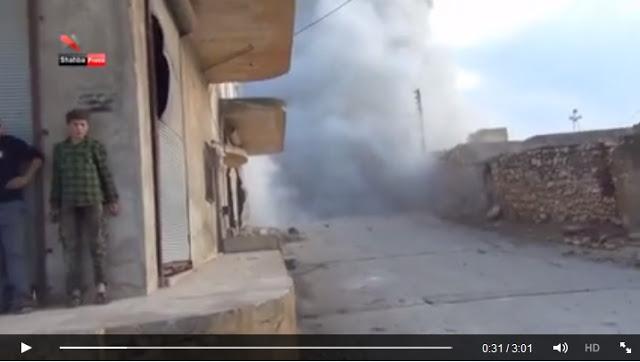 Video Jet Tempur Rusia Bombardir Warga Sipil Suriah