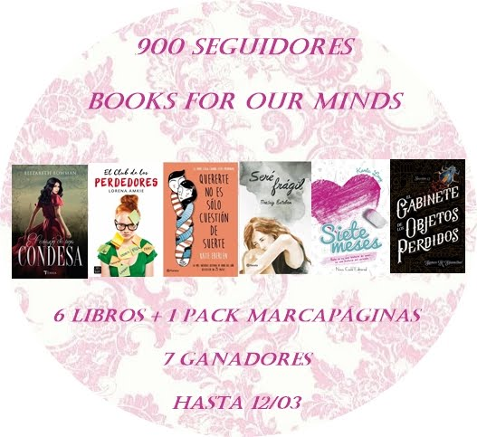 Sorteo 900 seguidores | Books for our minds