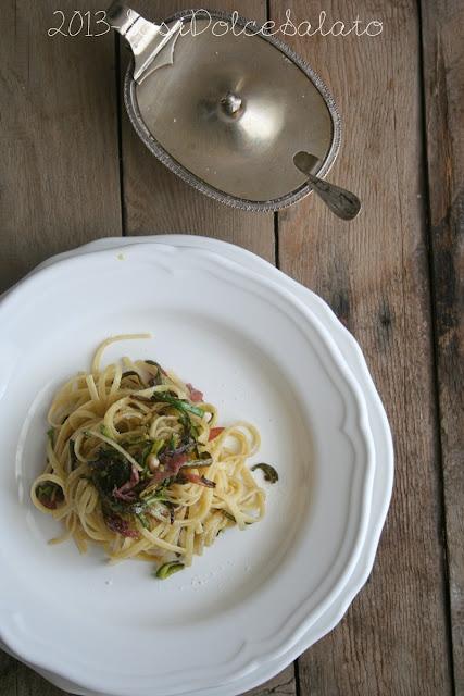 ricetta linguine con zucchine e bresaola di mio cognato peppe