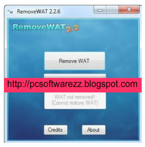 Windows Server 2008 R2 Undertaking, etc, supported. . RemoveWAT removes WA
