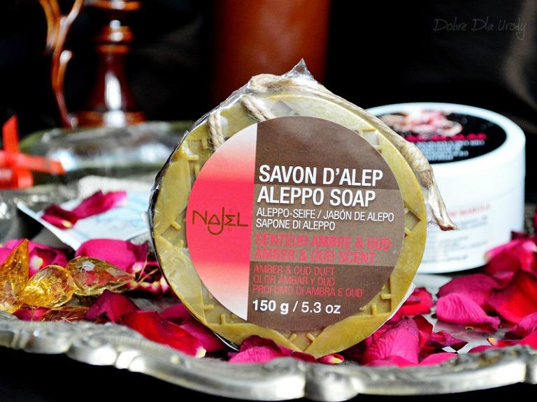 Mydło Aleppo o zapachu ambry i oud - Najel