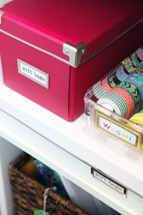 & IHeart Organizing: DIY Gift Wrap Organization Station