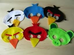 Angry Bird Mask Making