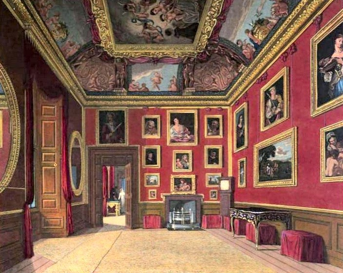 King's Drawing Room, Windsor Castle  from The History of the Royal Residences by WH Pyne (1819)