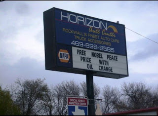 free nobel peaace prize with oil change barack obama
