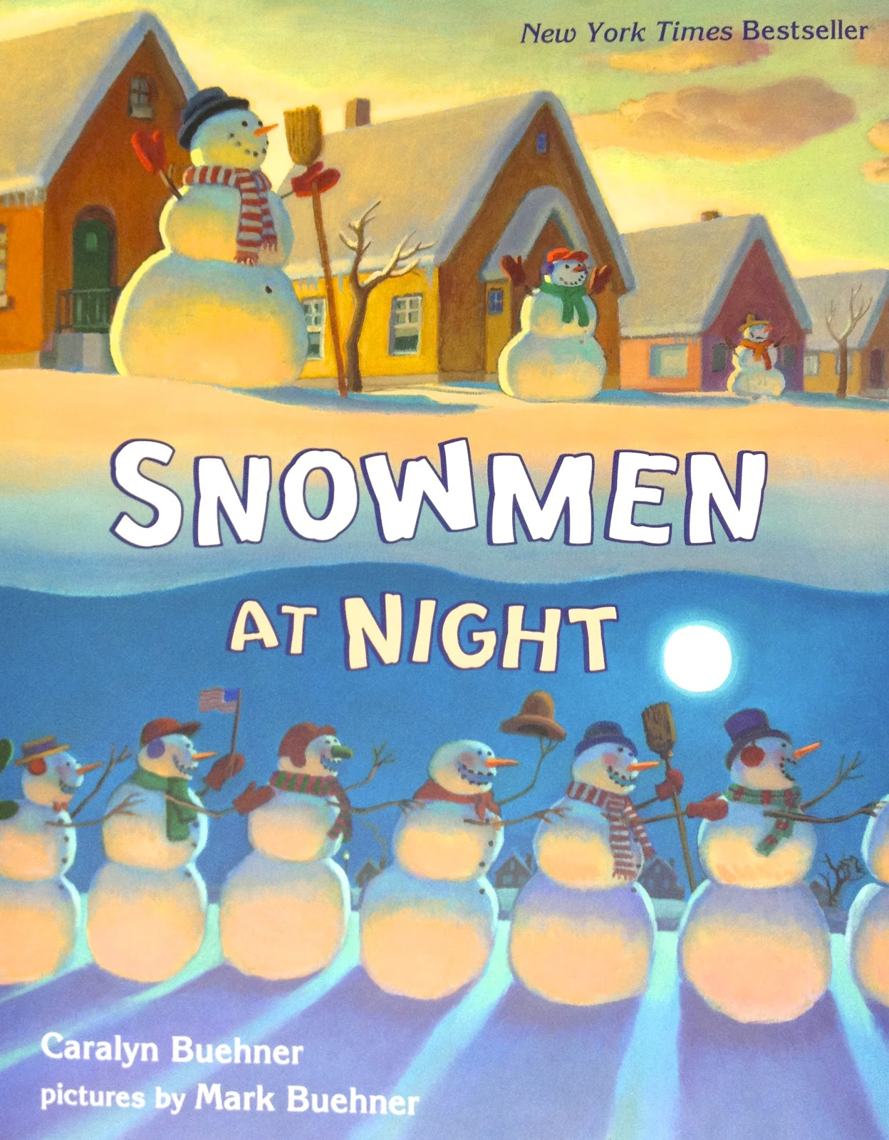 Thestorylady Snowmen At Night