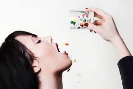 woman take pills