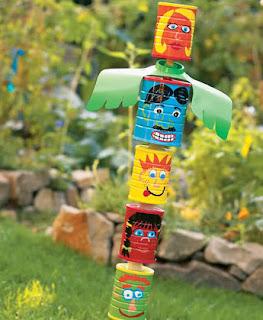 DIY kaleng bekas : Can Totem Pole
