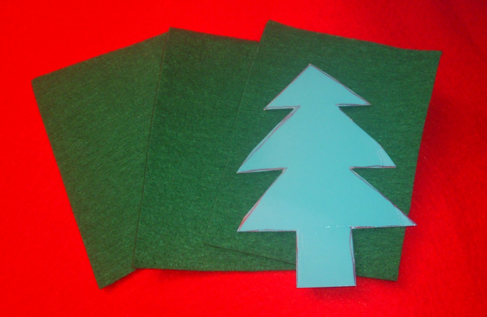 Como hacer un rbol de navidad en fieltro vero4casa - Como hacer un arbol de papel grande ...