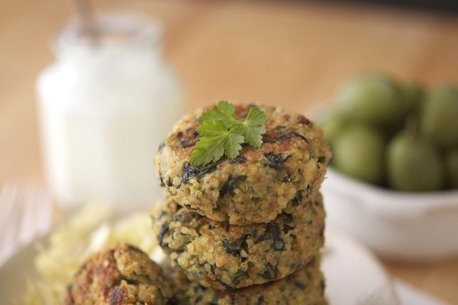 The Iron YouGreek Style Quinoa Patties With Tzatziki Sauce