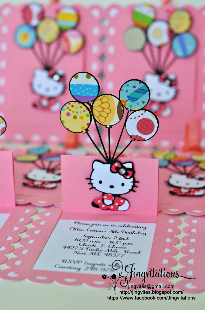 Jingvitations Handmade Hello Kitty Candyland Invitations