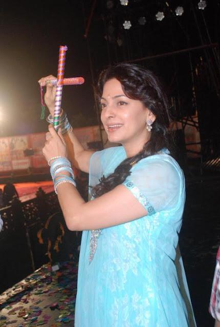 Juhi Chawla at Falguni's dandiya event in Goregaon