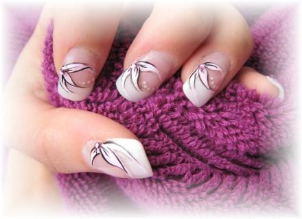 Ongle glam Idee dessin sur ongle